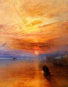 William Turner - The Fighting Téméraire tugged to her last Berth to be broken