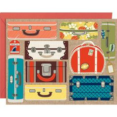 Suitcases A2 Stationery - Paper Source