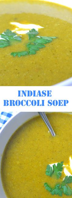 Indiase broccoli soep