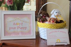 Adopt a puppy at a dog themed birthday party!