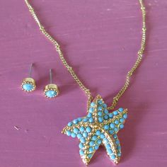 starfish jewelry necklace turquoise