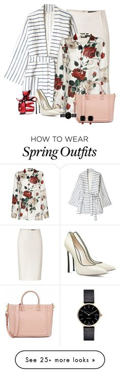 """Spring Blooms"" by ahapplet on Polyvore featuring Donna Karan, Tucker, Dolce&Gabbana, Casadei, Myku, Les Néréides, Nina Ricci, Winter and ahapplet"