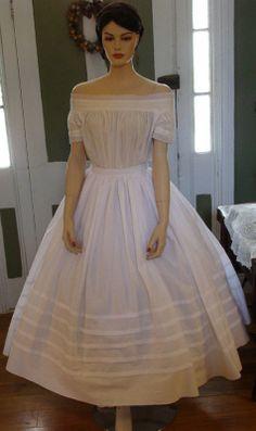 Tucked Petticoat (worn over corded petticoat)