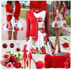 """""""Ravishing Red Roses"""" by girlieques on Polyvore"""