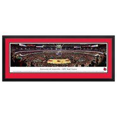 Louisville Cardinals Basketball Arena Framed Wall Art, Multicolor