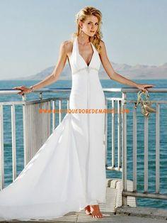 Robe de mariée mousseline blanche dos nu