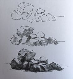 Tips On Finding The Best Landscape Supply Deals Landscape Pencil Drawings, Landscape Sketch, Pencil Art Drawings, Art Drawings Sketches, Easy Drawings, Drawing Rocks, Painting & Drawing, Background Drawing, Nature Drawing
