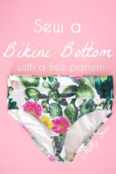 Sewing For Beginners Projects Use a free panty pattern to sew a bikini bottom - video to adapt a panties pattern to sew as a bikini swimsuit - Use a free panty pattern to sew a bikini bottom - video to adapt a panties pattern to sew as a bikini swimsuit Sewing Hacks, Sewing Tutorials, Sewing Tips, Sewing Ideas, Dress Tutorials, Sewing Basics, Sewing Patterns Free, Free Pattern, Pattern Sewing