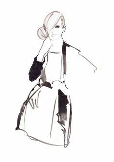 Watercolour fashion illustration // Francesca Waddell