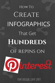Create graphics that get hundreds of repins on Pinterest. The repin is one of the most valuable assets you have. There is nothing like sharing your pin once and have it driving traffic etc months after your share.