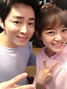 Gugudan twitter updates with Kim Sejeong and Jo Jungseok