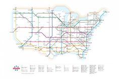 cool US interstate map ala subway map style