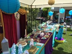 Fancy Eventos's Birthday / Princess Jasmin - Photo Gallery at Catch My Party Arabian Party, Arabian Nights Party, Disney Princess Party, Princess Birthday, Aladdin Party, Moroccan Party, Party Punches, Party Themes, Party Ideas
