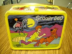 Vintage 1973 Scooby-Doo Lunch Box And Thermos Lunchbox Lunch Pail Metal Orange Retro Lunch Boxes, Lunch Box Thermos, Tin Lunch Boxes, Metal Lunch Box, Lunch Containers, Vintage Tins, Vintage Metal, Vintage Stuff, Vintage Photos