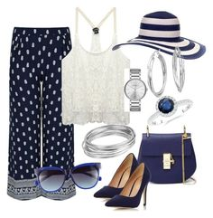 Summertime Blues by sassyzanne on Polyvore featuring polyvore, fashion, style, Wet Seal, Dorothy Perkins, Chloé, Marc by Marc Jacobs, Blue Nile, Worthington and Vince Camuto
