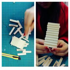Students building structures using bolsa wood. Building Structure, Playing Cards, Students, College, Wood, How To Make, University, Woodwind Instrument, Playing Card Games