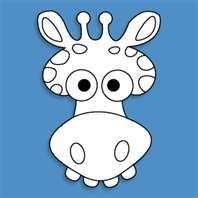 here s our giraffe mask template simply print these out for kids to ...