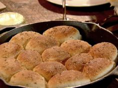 Buttered Rosemary Rolls from Pioneer Woman Ree Drummond. I use Brdigeford frozen rolls. Awesome!