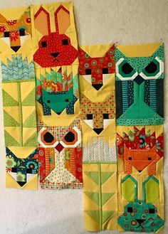 Fancy forest by Elizabeth Hartman - I LOVE THESE COLORS!!
