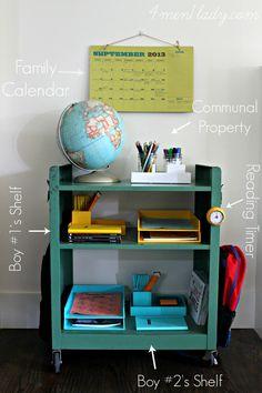 Fabulous homework station! Loving this. (4Men1Lady)