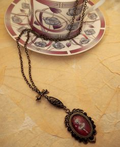 Tiny Dancer Pendant Vintage Style Necklace Gothic Steampunk Dolly Kei Lolita, handmade, valentine gifts. £14.00, via Etsy.
