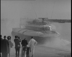 A 1950s British invention – the Hovercraft. Watch footage of it here: http://www.britishpathe.com/workspaces/jhoyle/FEzZISuR/thumb