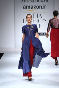 Aditya Dugar at Amazon India Fashion Week Spring/Summer 2016 | Vogue India | Section :- Fashion | Subsection :- Fashion Shows | Author :- Vogue.in | Embeds :- slideshow-right-thumbnail, slideshow-bottom-text | Covers :- no-cover | Publish Date:- 10-10-2015 | Type:- Story-editorial