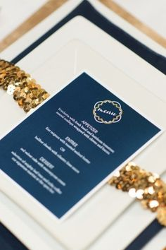 Modern Blue and Gold Wedding   #sparklingeverafter