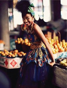 afro-art-chick: Sharleen Dziire by Ross Garrett. African Inspired Fashion, African Print Fashion, Africa Fashion, Ethnic Fashion, African Prints, African Colors, Ankara Fashion, Kitenge, African Attire