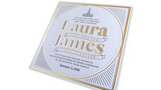 Laura & James Wedding Invitation | PaperSpecs.com Too often wedding invitations are ephemeral, off-the-rack affairs that more often express the third-party designer's aesthetic-du-jour than that of the happy couple.