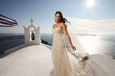 #wedding in #Santorini by StellaAndMoscha.com...love her dress