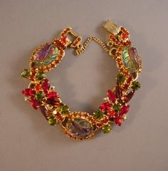 JULIANA DandE unsigned bracelet with gorgeous elusive colors  Awesome!!!