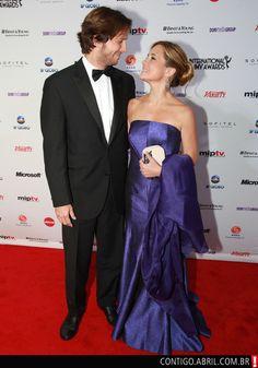 Vladimir Brichta e Adriana Esteve na cerimônia de entrega da 39ª edição do Internacional Emmy Awards.