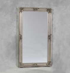 EXTRA Large Antique Silver Classical French Ornate mirror