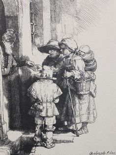 Bettelnde Familie, Rembrand, 1648