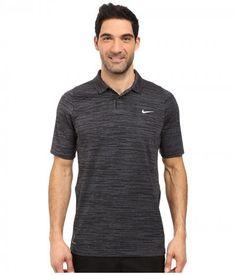 Nike Golf - Tiger Woods Vl Max Swing Knit Heather (Dark Grey/Black/Reflective Silver) Men's Short Sleeve Pullover