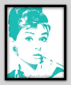 Audrey+Hepburn++Audrey+Hepburn+Art++Breakfast+by+lulusimonSTUDIO,+$15.00