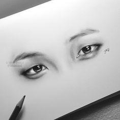 bts eyes bangtan bangtan boys namjoon rapmon _ pencil   taylorbrookerart.tumblr.com