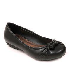 Spicy Footwear Black Twist Flat by Spicy Footwear #zulily #zulilyfinds