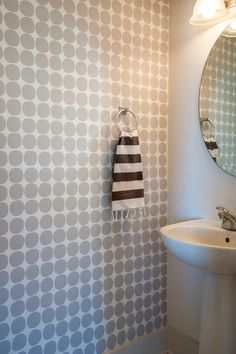 Using a stencil and some paint, a homeowner recreated the look of expensive wallpaper for under $100