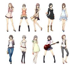 ooh different poses and styles of anime. I think I might keep this to help me draw anime.