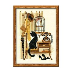 Counted Cross Stitch Kit  Phone Riolis  Retro Cross stitch