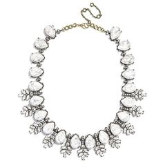 BaubleBar 'Crystal Wreath' Collar Necklace ($68) ❤ liked on Polyvore