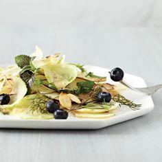 kohlrabi salad with ginger vinaigrette salad. Love girl and the goat!