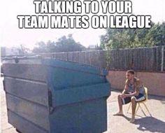 Talking with teammates