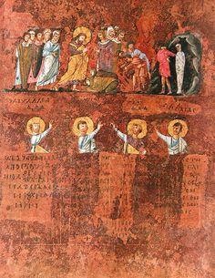 Calabria-Arte e Cultura-Codex Purpureus Rossanensis-Tav.1