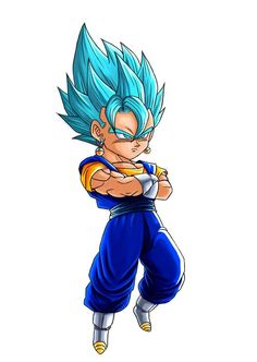 Akira Toriyama Dragon Ball Z fan art Vegeto Super Saiyan Blue Anime Chibi, Chibi Kawaii, Dragon Ball Gt, Chibi Marvel, Gogeta And Vegito, Manga Dragon, Chibi Characters, Caricature, Meme
