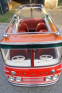 vintage Belgian merry-go-round cars - you can still buy them online! More details on Interiorator.com, tranmitting tomorrow's trends today. http://www.interiorator.com/L-Autopede-merry-go-round-cars
