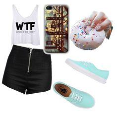 Untitled #8 by nicolehenderson518 on Polyvore featuring polyvore fashion style Love Moschino Vans