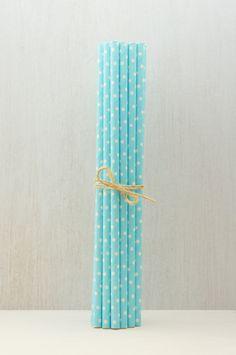 Pajitas de Papel Azul Bebé con lunares Blancos❤️ ♡ ~ Ʀεƥɪииεð╭•⊰✿ © Ʀσxʌиʌ Ƭʌиʌ ✿⊱•╮